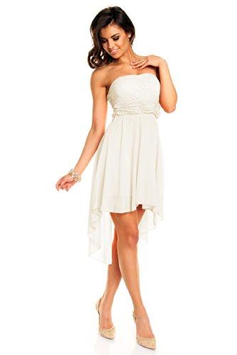 Sexy Vokuhila Partykleid, Abendkleid weißes Kleid günstig kaufen
