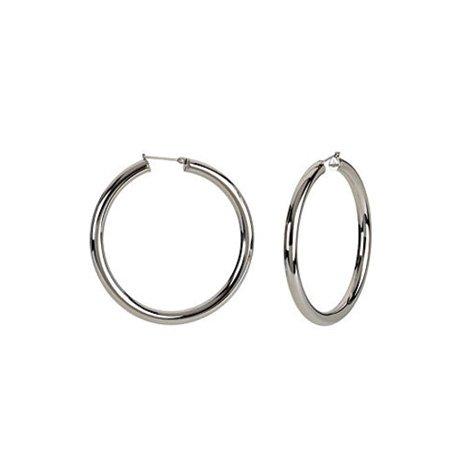 5mm, Stainless Steel Hoop Earrings 50mm (1 7/8