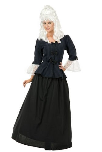 Womens XSM (3-5)-Martha Washington/Colonial Woman Costume (No Wig)