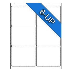 6 UP Avery Compatible 8164 5264 58164 55164 48464 8254 6874 White Matte Labels Stickers-100 Sheets