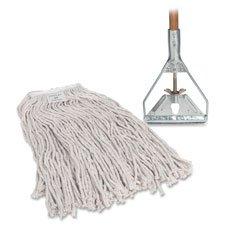 "Complete Mop, 4-Ply, 15/16""x60"" Wood Handle, 24 oz Head"