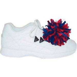 Pair Plastic Shoe Poms, Red/White