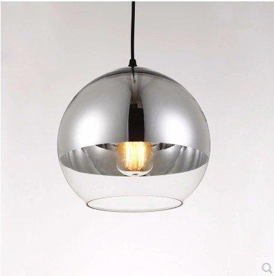 GS~LY minimalista moderno creativo della luce vetro sfera sferica di placcatura testa unico lampadario,30CM