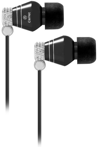 Cellet C. Shine Dynamic Driver 3.5Mm Stereo Earpiece For Apple Iphone 3Gs, Blackberry Storm 9530, Bold 9000 & Curve - Black