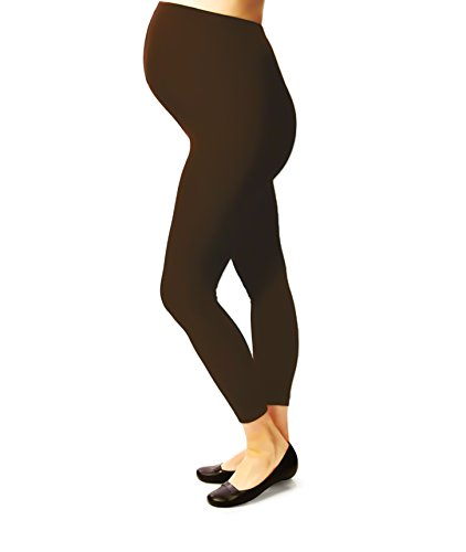 Terramed Maternity Footless Graduated Compression Microfiber Leggings Tights (20-30 mmHg) Firm Support (X-Large, Brown)