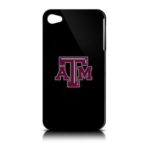 NCAA Texas A&M Aggies Varsity Jacket Hardshell Case for Apple iPhone 4, Black