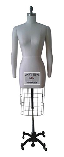 Female Professional Fashion Dressmaker Dress Form With 2 Removable Arms Size 0 Made By OM (Arms Series) (Professional Dress Form 0 compare prices)