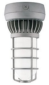 Rab Lighting Vxled26Dg Cool Led Vaporproof Ceiling Mount With Frosted Globe And Die Cast Guard, Aluminum, 26W Power, 1955 Lumens, 277V, Natural