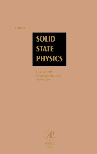 Solid State Physics: Advances in Research and Applications, Vol. 53: 1955-1999, Overview, Contents and Authors