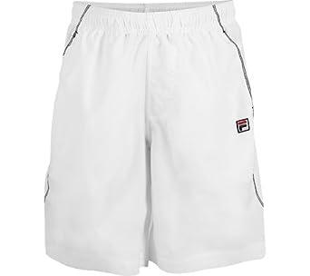 Buy Fila Boy's Contrast Sitch Short - White Black by Fila