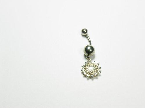 NOVELTY Belly Ring Sunflower GAAC-BR 10MM