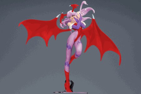 Darkstalkers Yamato Capcom Girls Collection 10 Inch PVC Statue Morrigan [Special Color Ver.]
