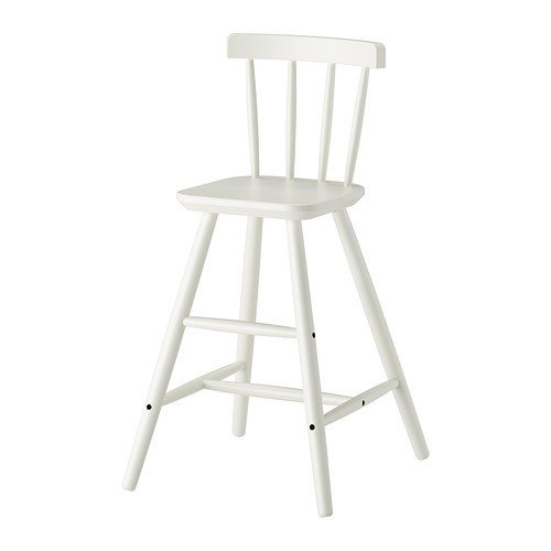 IKEA-AGAM-Kinderhochstuhl-in-wei-aus-Massivholz