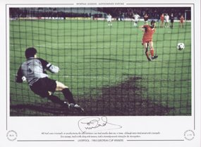 Phil Neal Liverpool scores 1984 European Cup Final – Signed Limited Edition