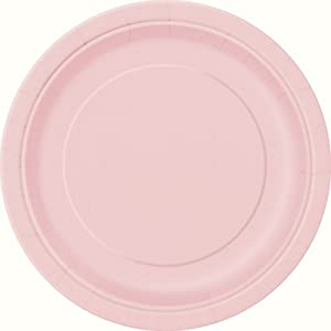 16 Count Dinner Plates, 9-Inch, Light Pink