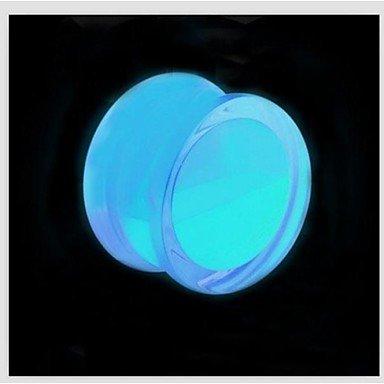 Jew Jewly 2015 New Acrylic Glow In Dark Liquid Ear Plugs Flesh Tunnel Gauge Piercing Body Jewelry A Set Of 2 10Mm