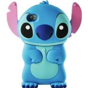 Disney 3d Stitch Movable Ear Flip Silicone Soft Case Cover for Iphone 4/4s