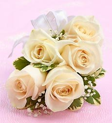 Flowers by 1800Flowers - White Rose Corsage - Large