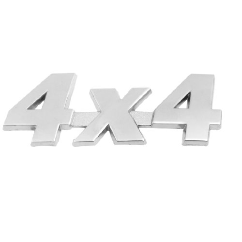 Silver Tone Metal 4x4 Pattern Auto Car Badge