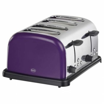 4 Slice Plum Toaster from Swan
