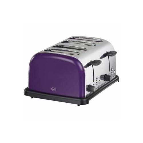 Swan ST14020PURN 4-Slice Stainless Steel Toaster, Plum