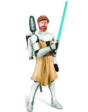 Star Wars The Clone Wars Obi-Wan Kenobi CW02 - 3-3/4 Inch Scale Action Figure