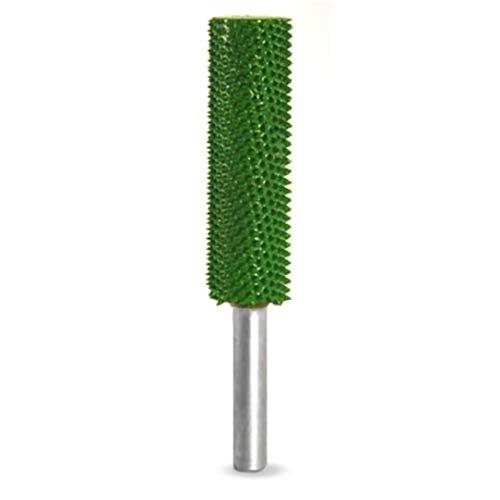 1/4 Shank Cylinder Safe End 1/2 x 2 (Coarse Grit) (Color: Green)