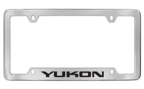 gmc-yukon-chrome-plated-metal-bottom-engraved-license-plate-frame-holder-by-gmc