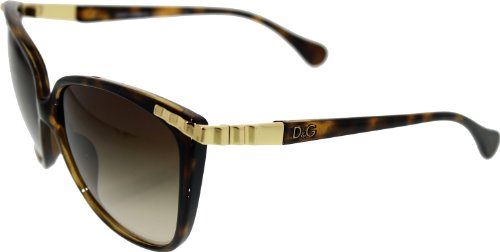D&G DD8096 Sunglasses-502/13 Havana (Brown Gradient Lens)-58mm