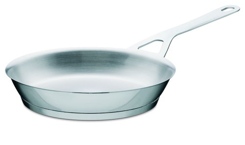A di Alessi Pots & Pans Frying Pan, Stainless Steel, 24 cm, (AJM110/24)