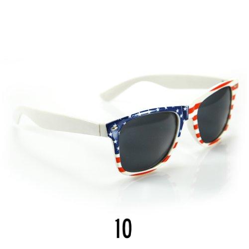Sonnenbrille Nerdbrille retro Wayfarer Unisex Herren/Damen Sonnenbrille, UV-Schutz 400, Schildpatt Herren Sonnenbrille Spicoli 4 Shades, Tortoise Aussen, One size (10)