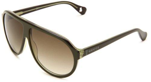 Gucci Kids 5000/C/S Aviator Sunglasses,Olive & Purple Frame/Olive Gradient Lens,One Size