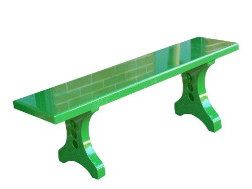 Ofab Custom Theme Tables Designer Backless Bench, Green