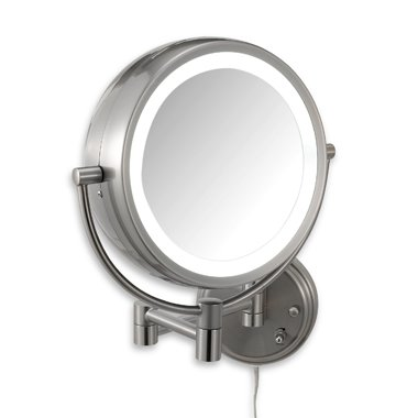 Conair BE6WMX Lighted 7X Brushed Nickel Wall Mount Fluorescent Hotel Makeup Mirror (Conair Natural Daylight Mirror compare prices)