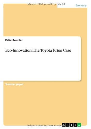 Eco-Innovation: The Toyota Prius Case