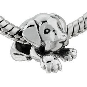 Sleepy House Dog Bead Charm Fits With Pandora Chamilia Charms
