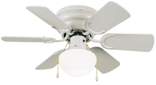 Design House 152991 Atrium Hugger Ceiling Fan, 30-Inch, White