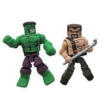 Marvel Vs Capcom 3 Minimates Series 1 Exclusive Mini Figure 2pack Hulk Vs. Mike Haggar By Art Asylum Picture