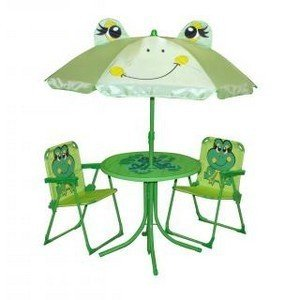 mobilier de jardin grenouille enfant avec parasol table. Black Bedroom Furniture Sets. Home Design Ideas