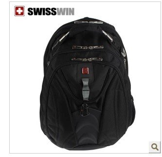 Swisswin Swiss Cross Men and Women Shoulder Computer Bag Laptop Backpack Fashion Backpack Sw9308 Business