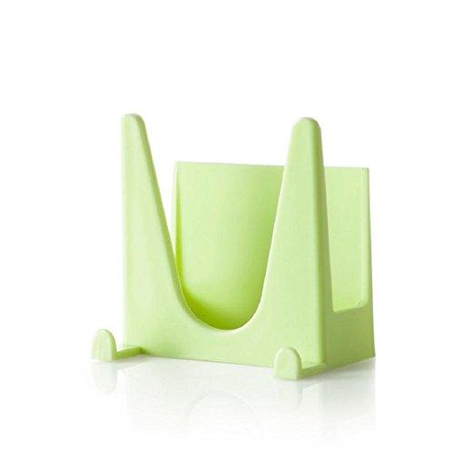 Orangeskycn Kitchen Bakeware Pot Lid Rack Holder Organizer (Green) (Lid Holder For Crock Pot compare prices)