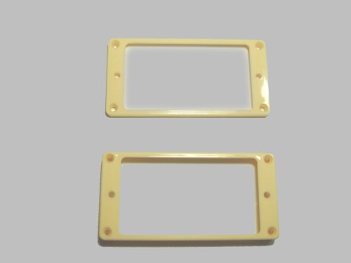 [Domestic] for humbucker エスカッション flat top for set ivory PUR-FT-IVY