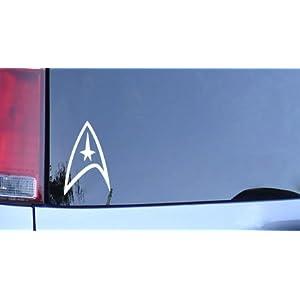 Star Trek Federation Logo Vinyl Decal - White Window Sticker