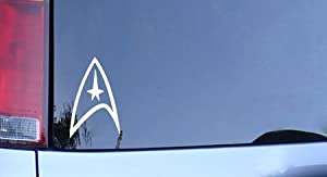 Star Trek Federation Logo Vinyl Decal - White Window Sticker