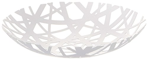 Decorative Centerpiece Bowl in White - Powder-Coated Steel