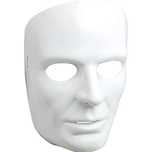 Men's White Full Face Mask
