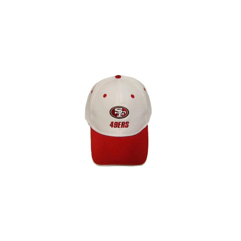NFL SAN FRANCISCO 49ERS WHITE VELCRO COTTON HAT CAP