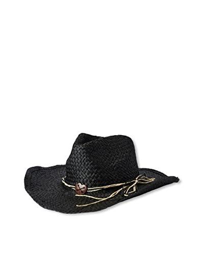 Magid Women's Straw Cowgirl Hat, Black