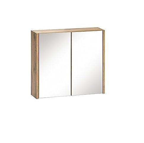 Armadietto a specchio IBIZA in legno di quercia 60cm