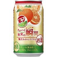 アサヒ 果実の瞬間 贅沢みかんテイスト (ポンジュースとのコラボ商品) 350ML 1本